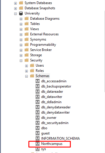 sql server create schema