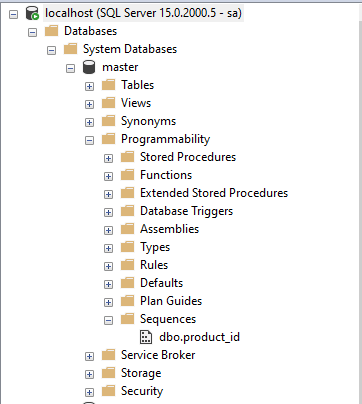 SQL Server Sequence